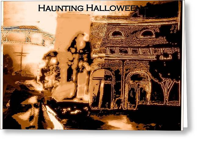 Haunting Halloween Greeting Card by Marian Hebert