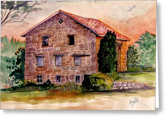 Old Relics Paintings Greeting Cards - Haunting Remnants Greeting Card by Marilyn Smith