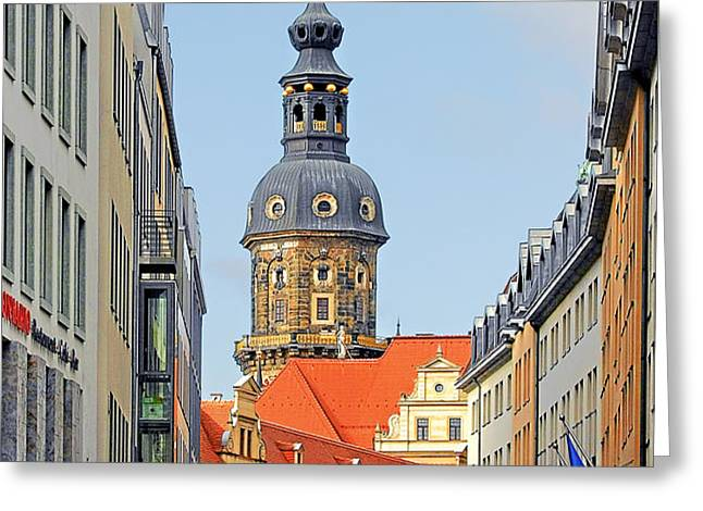 Hausmannsturm - Lookout of a castle with stunning views Greeting Card by Christine Till