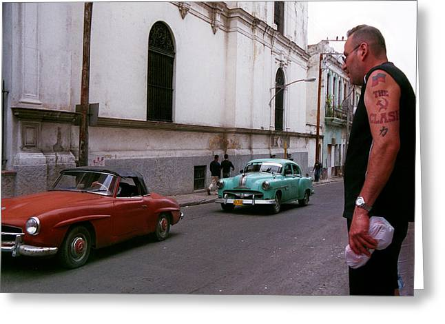 The Clash Greeting Cards - Havana 4 Greeting Card by Andrew Fare