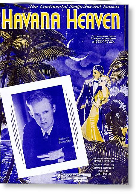 Havana Heaven Greeting Card by Mel Thompson