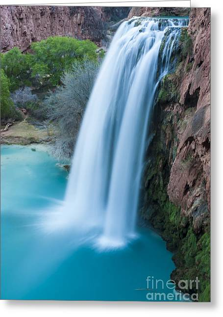Moss Green Greeting Cards - Havasu Falls I Greeting Card by Scotts Scapes