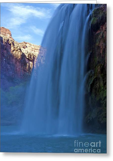 Moss Green Greeting Cards - Havasu Falls II Greeting Card by Scotts Scapes