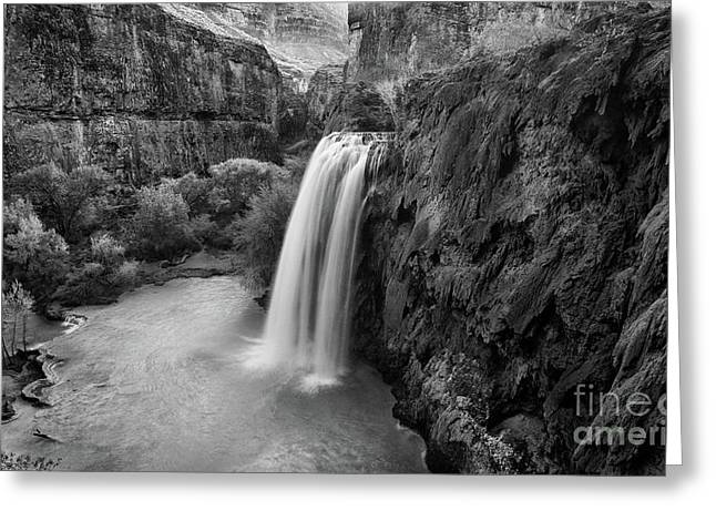 Water Flowing Greeting Cards - Havasu Falls Greeting Card by Keith Kapple