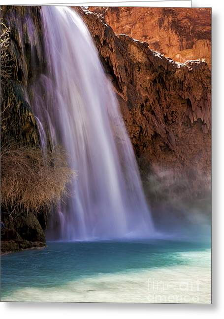Moss Green Greeting Cards - HavasuFalls III Greeting Card by Scotts Scapes