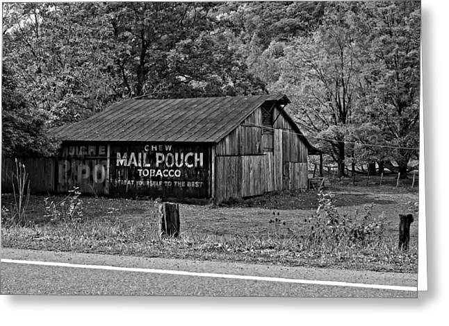 Road Travel Greeting Cards - Have a Chaw monochrome Greeting Card by Steve Harrington