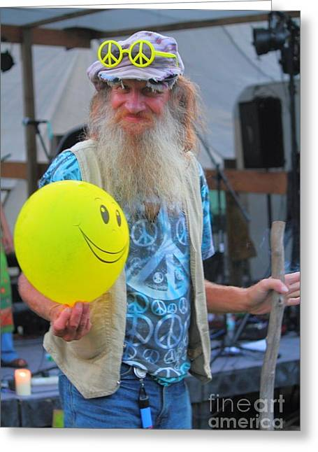 Counterculture Greeting Cards - Have A Hippie Day Greeting Card by Jesse Ciazza