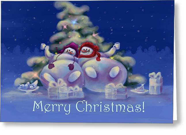 Have A Merry Christmas Greeting Card by Anastasia Michaels