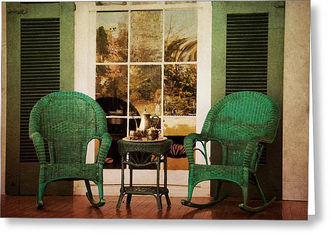 Antebellum Greeting Cards - Have Tea With Me Greeting Card by Jai Johnson