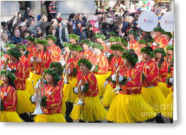 Marching Band Greeting Cards - Hawaii All-State Marching Band III Greeting Card by Clarence Holmes