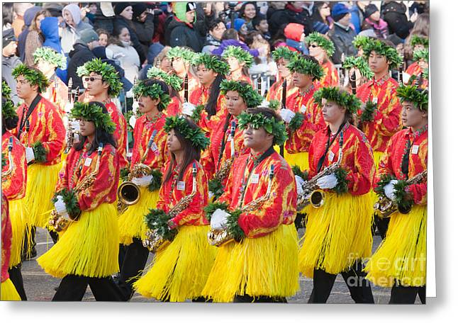 Marching Band Greeting Cards - Hawaii All-State Marching Band V Greeting Card by Clarence Holmes