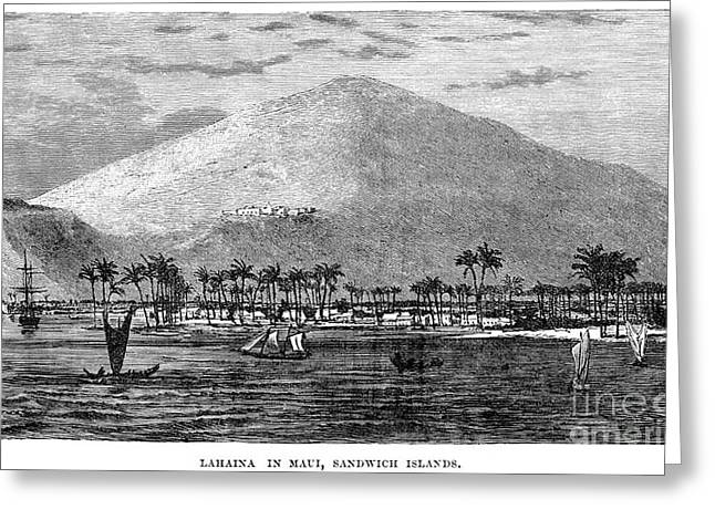 1870s Greeting Cards - HAWAII, c1875 Greeting Card by Granger