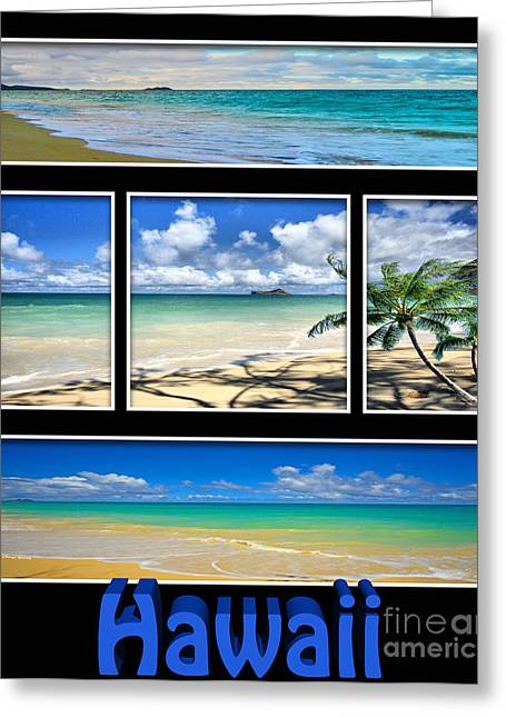 Beautiful Scenery Greeting Cards - Hawaii Pentaptych Greeting Card by Cheryl Young