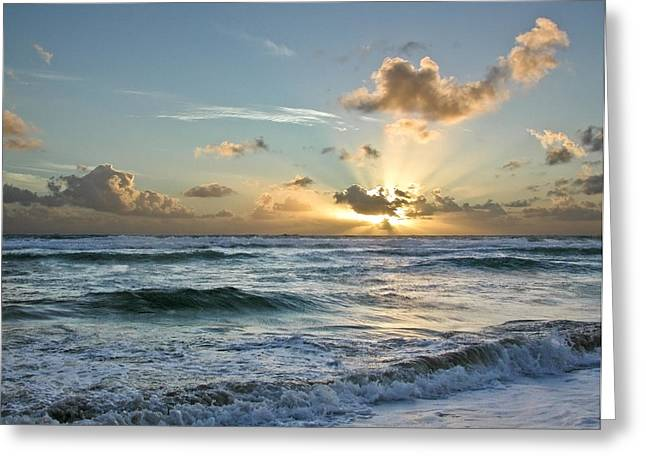Clounds Greeting Cards - Hawaii sunrise Greeting Card by Robert Ponzoni