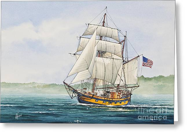 Sailing Ship Framed Prints Greeting Cards - Hawaiian Chieftain Greeting Card by James Williamson