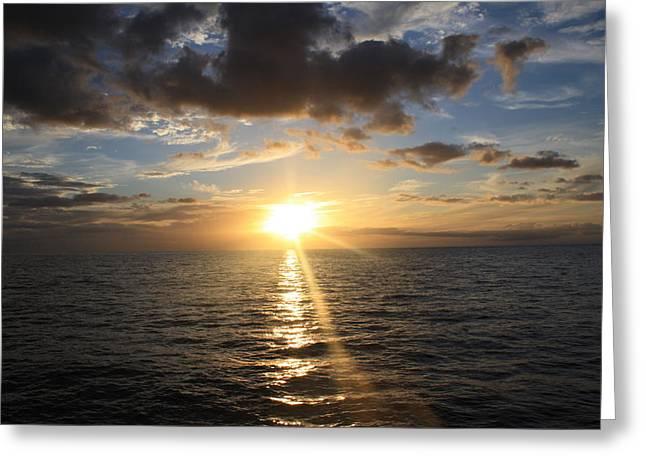 Hawaiian Sunset 2 Greeting Card by Brandon Radford