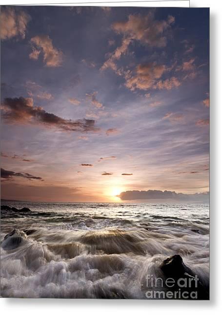; Maui Greeting Cards - Hawaiian Sunset South Maui Greeting Card by Dustin K Ryan