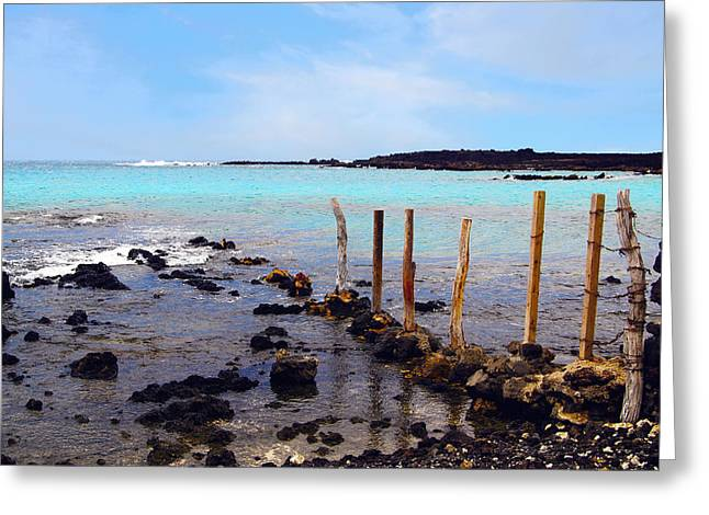La Perouse Bay Greeting Cards - Hawaiian Turquoise Greeting Card by Baywest Imaging