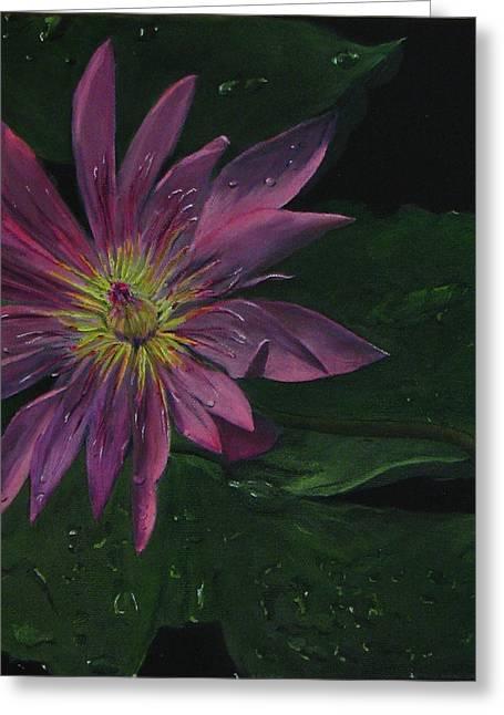 Hawaiian Water Lily - Pink Greeting Card by Sherry Robinson