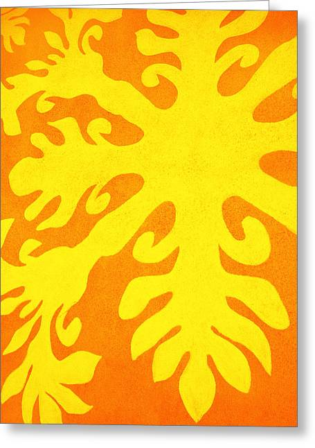 Heritage Quilts Greeting Cards - Hawaiiana Pattern Greeting Card by Brandon Tabiolo - Printscapes