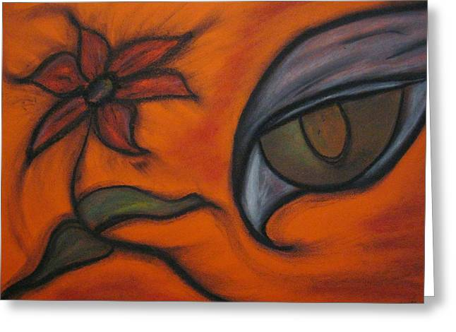 Hawk Eye Enchantment Greeting Card by Tracy Fallstrom