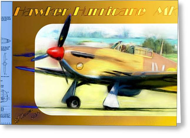 Fighters Greeting Cards - Hawker Hurricane Mk IV Greeting Card by Arne Hansen