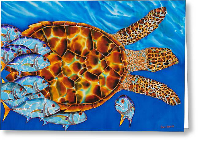 Amphibians Tapestries - Textiles Greeting Cards - HaWKSBILL - JACKS  Greeting Card by Daniel Jean-Baptiste