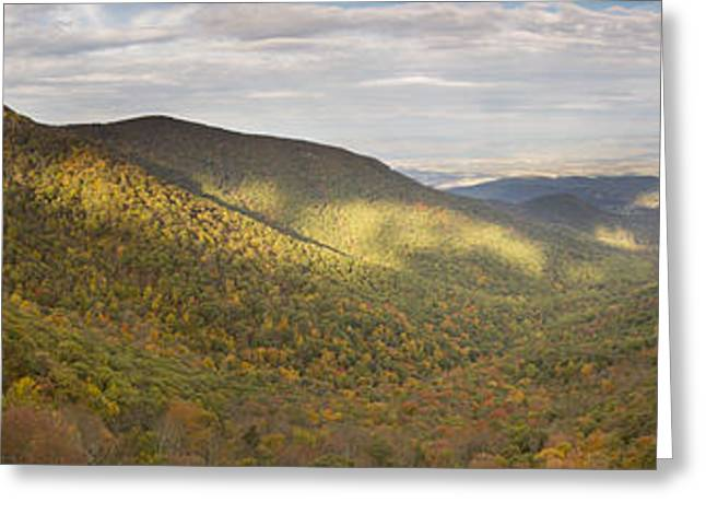 Shenandoah National Park Greeting Cards - Hawksbill Mountain and Newmark Gap from Crecent Rock Overlook Greeting Card by Dustin K Ryan