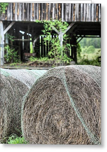 Hay Bales Greeting Cards - Hay Greeting Card by JC Findley