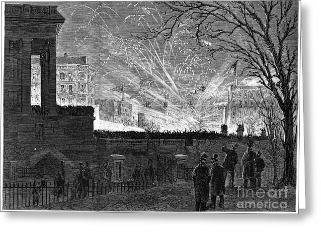 Inauguration Greeting Cards - Hayes Inauguration, 1877 Greeting Card by Granger