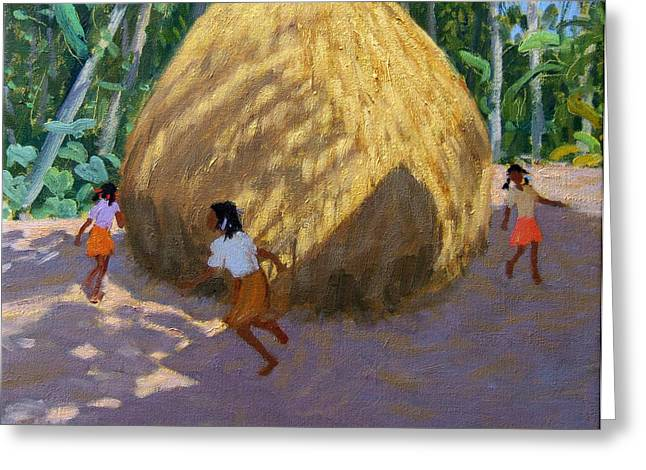 Bale Greeting Cards - Haystack Greeting Card by Andrew Macara