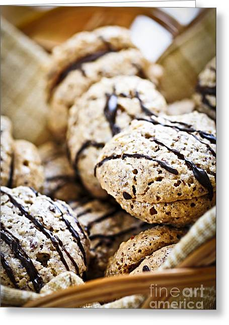 Sandwich Greeting Cards - Hazelnut Cookies Greeting Card by Elena Elisseeva