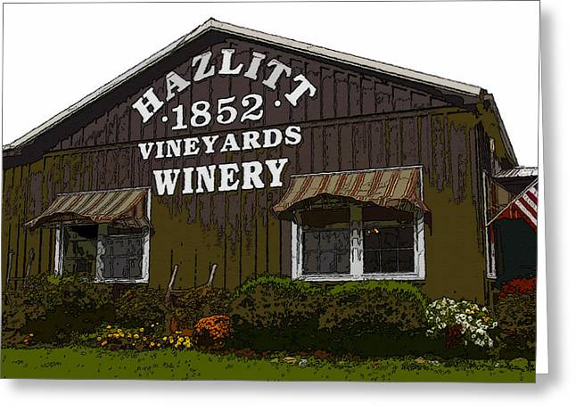 Finger Lakes Greeting Cards - Hazlitt Winery 1852 Greeting Card by David Lee Thompson