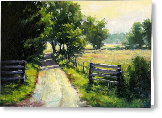 Hazy Summer Day Greeting Card by Vickie Fears