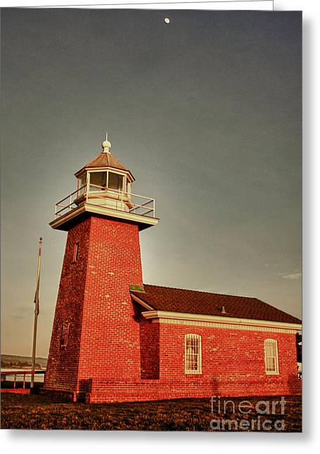 Surfing Museum Greeting Cards - hd 352 hdr The Lighthouse Greeting Card by Chris Berry