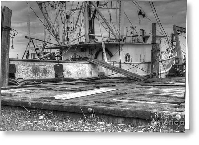 Surfing Photos Greeting Cards - HD Old Fishing Boat Needs TLC Greeting Card by Pictures HDR
