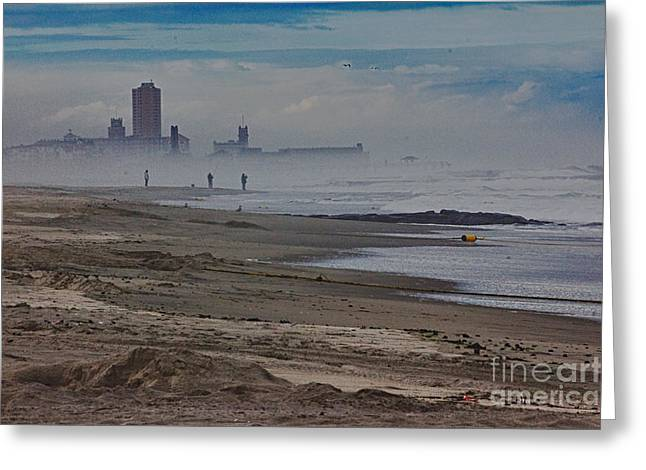 HDR Beach Beaches Ocean Sea Seaview Waves Sandy Photos Pictures Photography Scenic Photograph Photo  Greeting Card by Pictures HDR