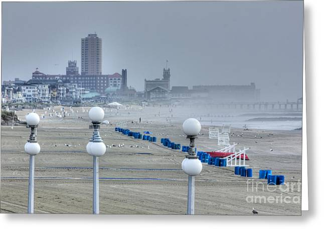 Oceanview Greeting Cards - HDR Beach Beaches Town Seascape Oceanview Art Gallery Photos Pictures New Buy Selling Sell Scenic Greeting Card by Pictures HDR