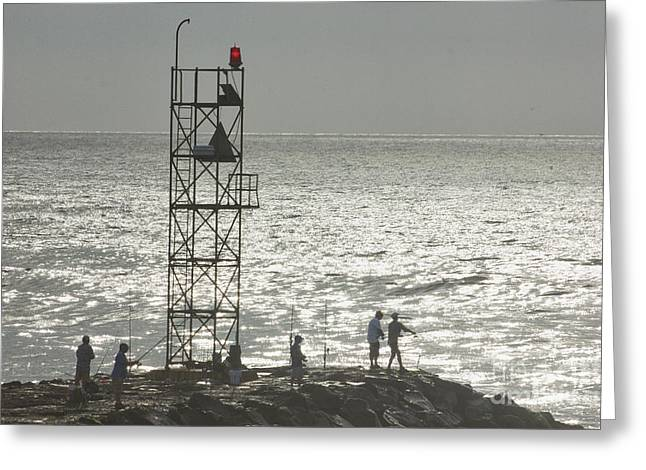 Oceanview Greeting Cards - HDR Beach Ocean Sea Scenic Fishing Black White Photos Pictures Selling Buy Selling Gallery Art Pics  Greeting Card by Pictures HDR