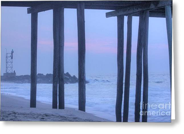 Buy Sell Photo Greeting Cards - HDR Beach Pier Ocean Beaches Art Photos Pictures Buy Sell Selling New Pics Sea Seaview Scenic   Greeting Card by Pictures HDR