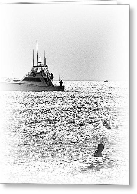 Buy Sell Photo Greeting Cards - HDR Black White Boat Ocean Sea Beaches Fishing Photos Pictures Photography Buy Sell Selling New Pics Greeting Card by Pictures HDR