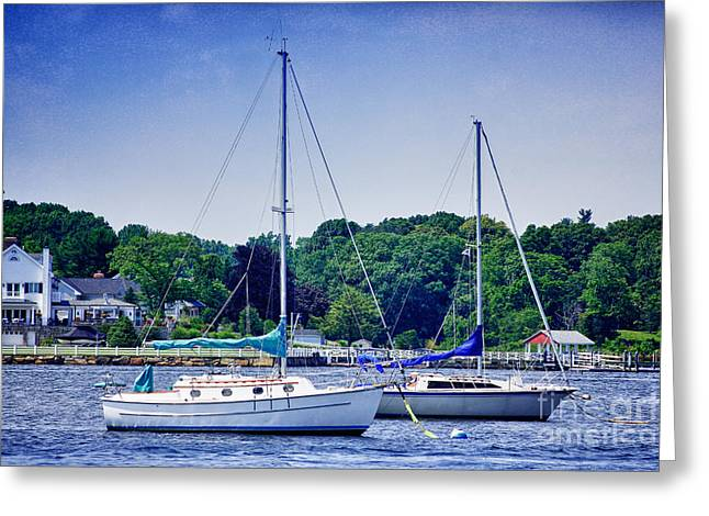 Sailboat Photos Greeting Cards - HDR Boat Boats Ocean Sea Harbor Photos Pictures Sailboats  Greeting Card by Pictures HDR