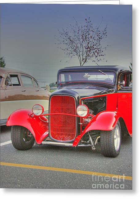 Pictures Buy Photography Greeting Cards - HDR Classic Custom Hot Rod Car Cars Vintage Classic Photos Pictures Buy Sell Selling Old School Cool Greeting Card by Pictures HDR