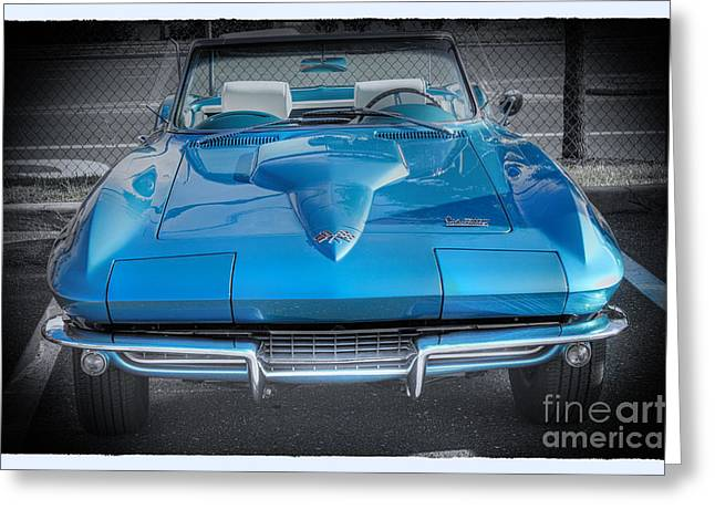 Hdr Pictures Greeting Cards - HDR Corvette Classic New Convertible Photos Pictures Picture Auto Gallery Sports Car Cars  Greeting Card by Pictures HDR