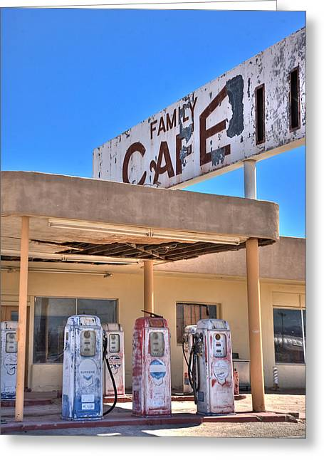Patina Digital Art Greeting Cards - HDR Family Cafe Greeting Card by Matthew Bamberg