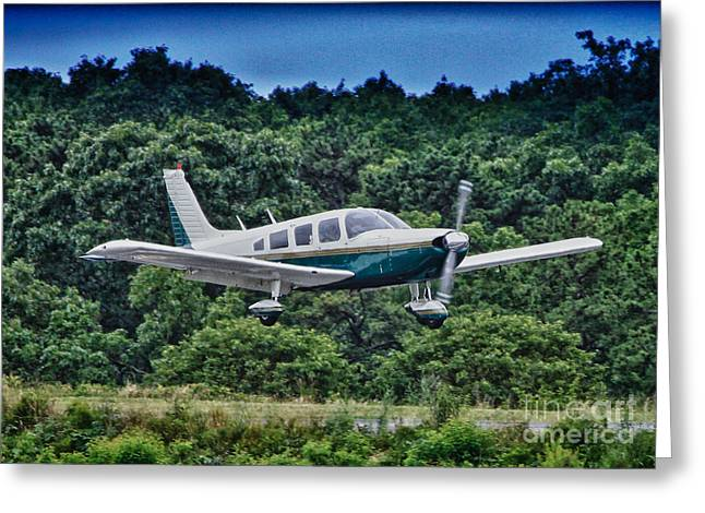 Pictures Buy Photography Greeting Cards - HDR Green Plane Landing Runway Photos Pictures Buy Sell Selling Art Aircraft Photography Picture Pic Greeting Card by Pictures HDR