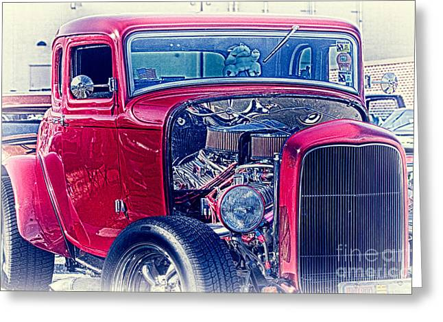 Hdr Photo Greeting Cards - HDR Hot Rod Vintage Street Car Cars Cool Gallery Buy Selling Custom New Art Photos Photography Pics Greeting Card by Pictures HDR