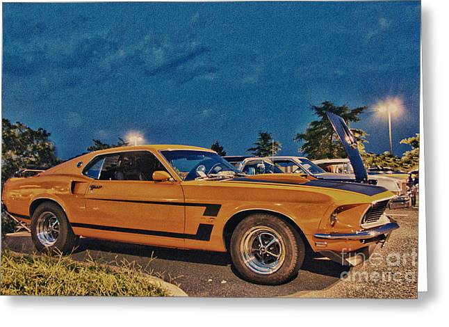 Hdr Photo Greeting Cards - HDR Mustang Muscle Car Cars Photos Pictures Photography Cool Gallery For Sale Selling Buy Classic  Greeting Card by Pictures HDR
