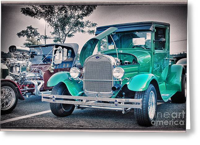 Buy Sell Photo Greeting Cards - HDR Pictures Pickup Truck Vintage Classic Photo  Photography Buy Sell Selling Hot Rod New Art Car  Greeting Card by Pictures HDR