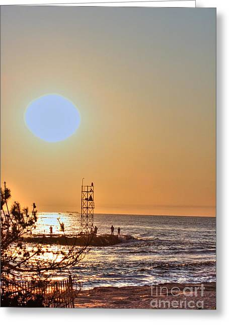 Oceanview Greeting Cards - HDR Seaview OceanView Beach Beaches Ocean Sea Photos Pictures Photography Photo Pics Pictures Summer Greeting Card by Pictures HDR